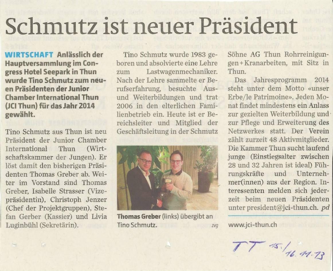 Unser Erbe... 2014 - JCI LOM Thun - Junior Chamber International
